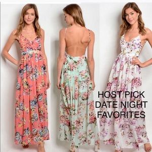🍭HP🍭SUMMER READY FLORAL CHIFFON BACKLESS MAXI🍭